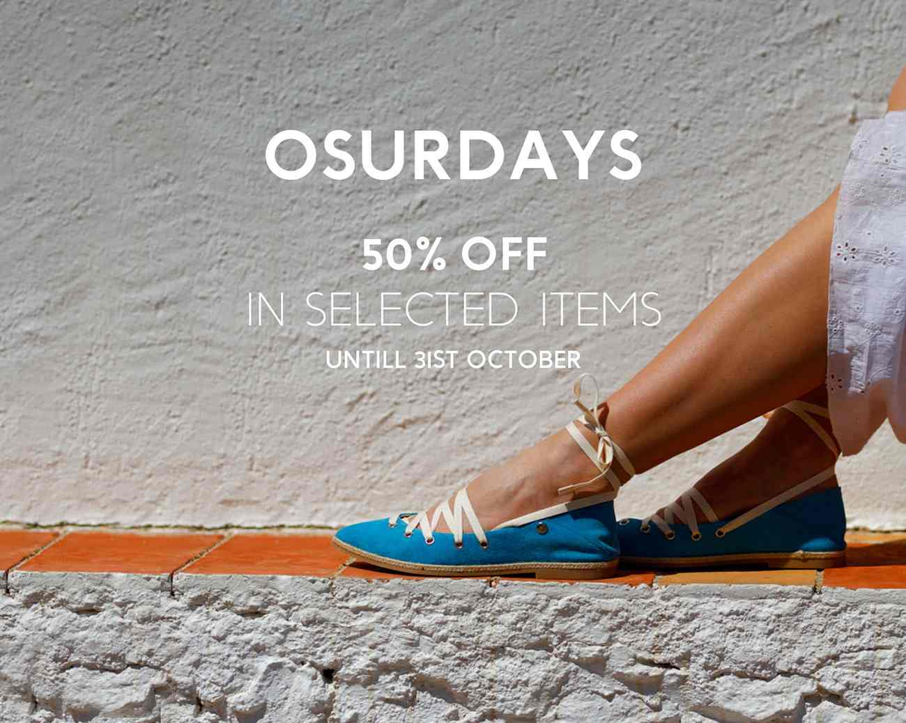 OSURDAYS 50% off in selected items - Cover